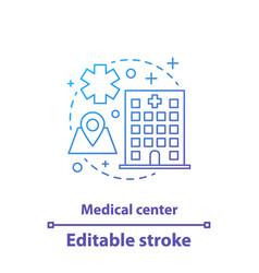 Medical center concept icon vector
