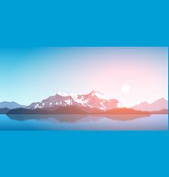 mountain range landscape vector image