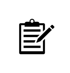 Note Icon Flat vector image