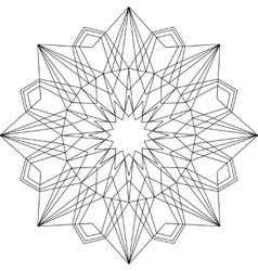 Outline mandala geometric ornament vector image