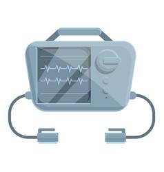 Pacemaker defibrillator icon cartoon style vector