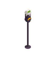 Parking zone meter icon vector