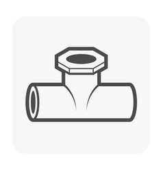 Pipe fitting part vector