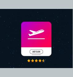 Plane takeoff icon airplane transport symbol vector