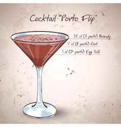 Porto Flip Cocktail vector