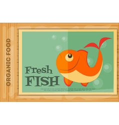 Poster fish vector