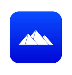 Pyramids icon digital blue vector