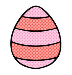 Quirky comic book style cartoon easter egg vector