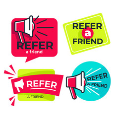 refer friend isolated icons share media vector image