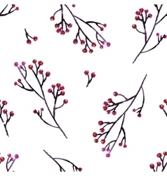 Seamless hand floral pattern vector
