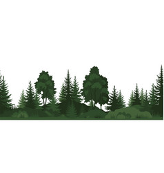 seamless summer forest vector image
