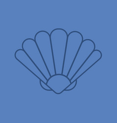 seashell color linear icon vector image