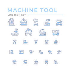 Set icons machine tool robotic industry vector