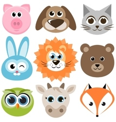 Set of funny animals vector