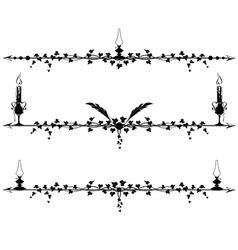 set of vignette vector image