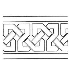 Simple moorish interlacement band found vector