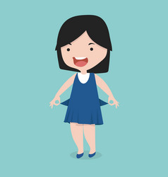 Small girl with no money vector