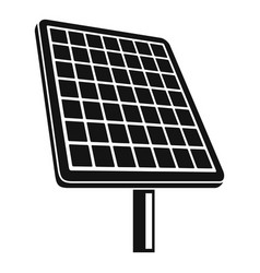 solar panel icon simple style vector image