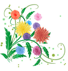 spring bouquet of flowers on a white background vector image