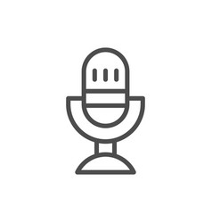 table microphone line icon vector image