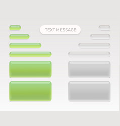 text message set vector image