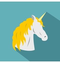 Unicorn icon flat style vector