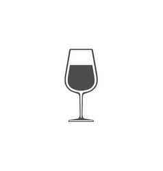 wineglass with wine icon isolated on white vector image