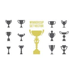 winner cup set 1 vector image vector image