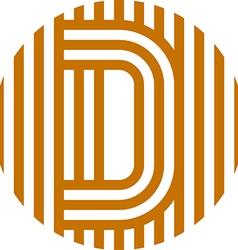 letter line d alphabet design vector image