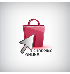 online shopping logo isolated vector image