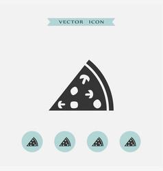 pizza icon simple vector image