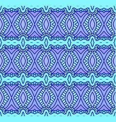 retro blue seamless wallpaper vector image vector image