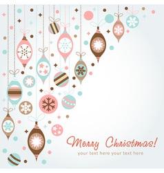 Beautiful design Christmas greeting card vector image vector image