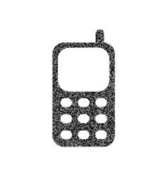 cell phone sign black icon from many vector image vector image