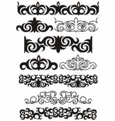 decorative boarders vector image
