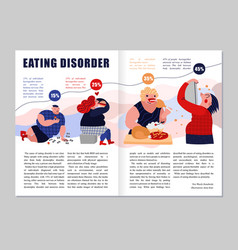 eating disorder magazine layout vector image