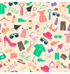 Fashion and clothes accessories seamless pattern vector image vector image