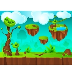 Green land game layer design vector
