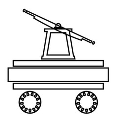 Handcar icon black color flat style simple image vector