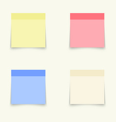 templates for notes vector image