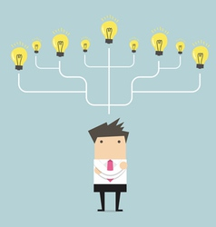 Businessman many idea to success concept vector image vector image