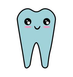 dental care symbol kawaii cartoon vector image