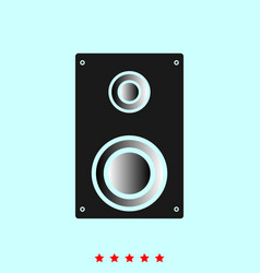 loud speaker set it is color icon vector image vector image