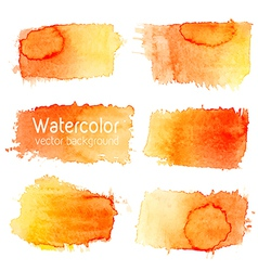 set of watercolor background with paper texture vector image vector image