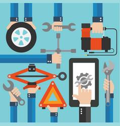 car online service modern flat design vector image vector image
