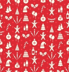 Christmas and New Year Seamless background pattern vector image