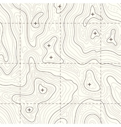 Contour elevation topographic seamless map vector image