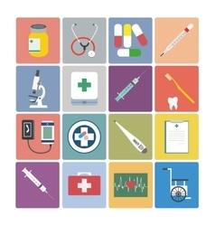 Flat design icon set - Medical vector image vector image