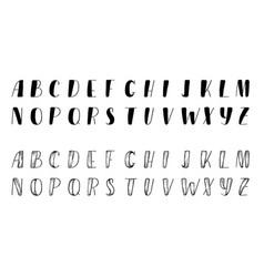 funny hand drawn comic font vector image