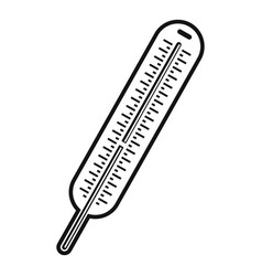 mercury thermometer icon simple style vector image vector image